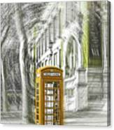 London Telephone Yellow Canvas Print
