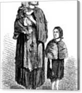 London, Vagrants, 1861 Canvas Print