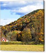 Lone Barn Fall Color Canvas Print