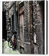 Lone Bike In France Canvas Print