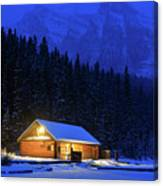 Lone Cabin In The Rockies Canvas Print