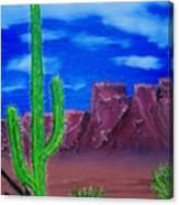 Lone Cactus Canvas Print