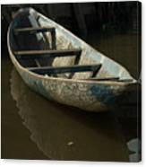 Lone Canoe Canvas Print