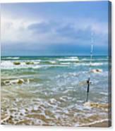 Lone Fishing Pole Canvas Print