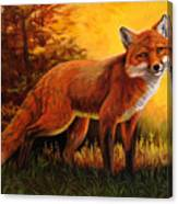 Lone Fox Canvas Print