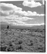 Lone Rider West Of Taos Canvas Print