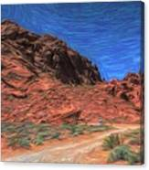 Lone Rock Road Paint  Canvas Print