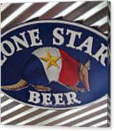 Lone Star Beer Canvas Print