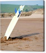 Lone Surfboard Canvas Print