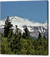 Lonely As God And White As A Winter Moon - Mount Shasta California Canvas Print