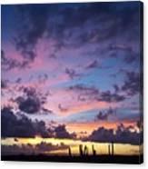 Cacti Sunset Canvas Print