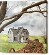 Lonely Farm Canvas Print
