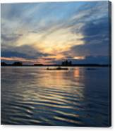 Lonely Goose Sunset Canvas Print