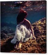 Lonely Mermaid Canvas Print