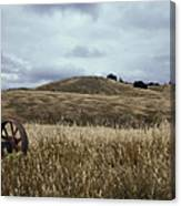 Lonely Tractor Panorama Canvas Print