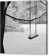 Lonely Winter Swing Ipswich Ma Canvas Print