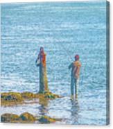 Lonesome Angler Canvas Print