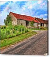 Long Barns Near Avincey - P4a16016 Canvas Print