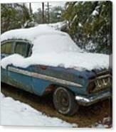 Long Cool Blue Impala Canvas Print