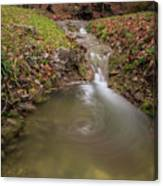 Long Exposure Picture Of Waterfall Canvas Print