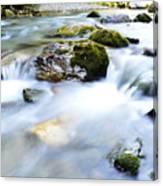 Long Exposure River Shkumbin  Canvas Print