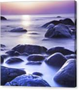 Long Exposure Sea And Rocks In Estonia Baltic Sea Canvas Print