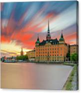 Long Exposure Stockholm Sunset Canvas Print