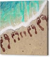 Long Family Beach Feet Canvas Print