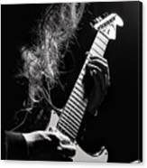 Long Hair Man Playing Guitar Canvas Print