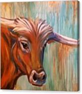 Long Horn Canvas Print