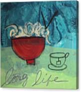 Long Life Noodles Canvas Print