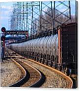Long Line Of Tanker Cars Canvas Print
