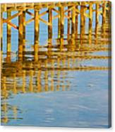 Long Wooden Pier Reflections Canvas Print