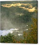 Long Pond Tully River Fog Canvas Print