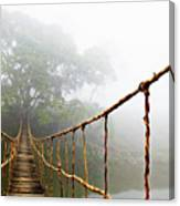 Long Rope Bridge Canvas Print