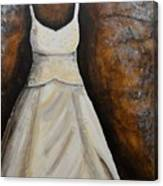 Long White Gown  Canvas Print