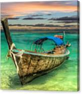 Longboat Sunset Canvas Print