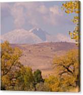 Longs Peak Diamond Autumn Shadow Canvas Print
