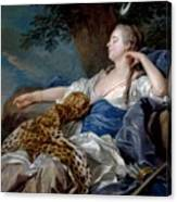 Loo, Louis-michel Van Tolon, 1707 - Paris, 1771 Diana In A Landscape 1739 Canvas Print