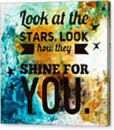 Look At The Stars Canvas Print