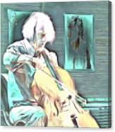 Look The Musician Plays Canvas Print