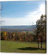 Looking At Fall Colors In The Field Canvas Print