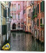 Looking Down A Venice Canal Canvas Print