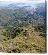 Looking Down From The Top Of Mount Tamalpais 2 Canvas Print