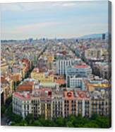 Looking Down On Barcelona From The Sagrada Familia Canvas Print