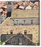 Looking Down On Old Dubrovnik Canvas Print