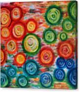Looking Down On Umbrellas Canvas Print