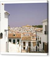 Looking Down Over Antequera  From Near The Church Of Santa Maria La Mayor  Canvas Print