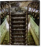 Looking Down The Stairs - Urban Exploration Canvas Print