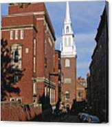Looking East Towards The Old North Church Canvas Print